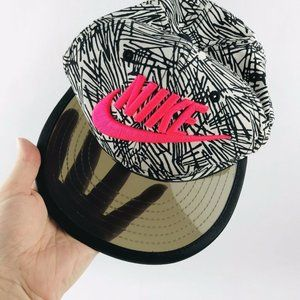 Nike True hat pink spell out clear bill snapback